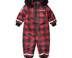 The BRANDOverall Checked Red With Black Fur56/62 cm