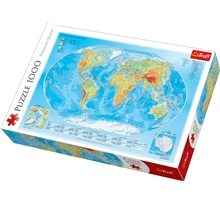Pussel 1000 Bitar - Map Of The World