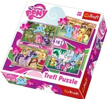 Pussel 4 i 1 - My Little Pony Ponies Holiday