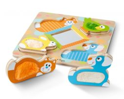 Melissa & Doug - Touch and Feel Puzzle Peek-a-Boo
