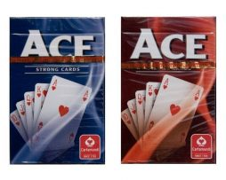 Ace - Poker-kortlek Röd