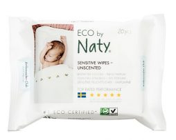 Naty Sensitive Wipes Unscented 20 st