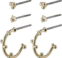 11204-2003 Gracefulness Earrings Gold Plated 1 set